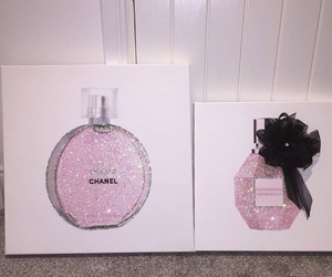 perfume, chanel, and pink image