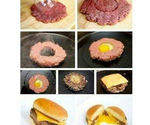 food, egg, and burger image