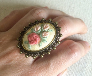 cocktail ring, etsy, and vintage style image