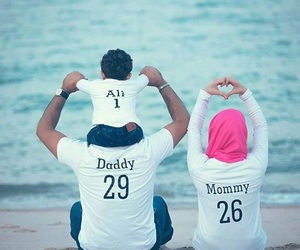 arab, baby, and couple image