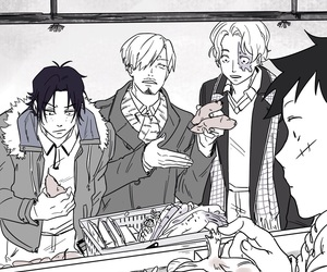 ace, anime, and black and white image