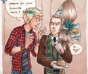 harry potter, teddy lupin, and draco malfoy image