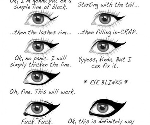 eyeliner, makeup, and funny image