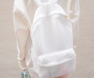white, backpack, and bag image