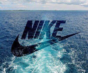 nike, blue, and sea image
