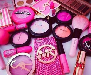 case, makeup, and pink image