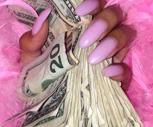 money, pink, and nails image
