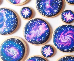 food, Cookies, and galaxy image