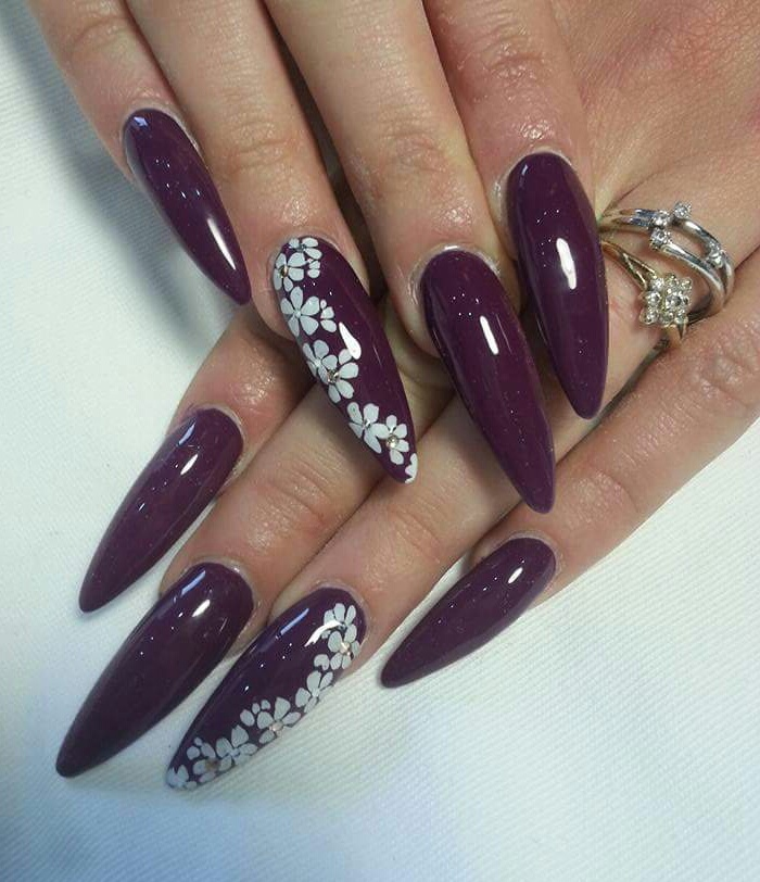 Aubergine nails uploaded by annie094 •○° on We Heart It