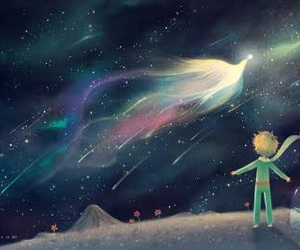 the little prince and stars image