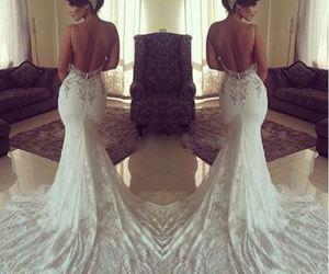 dress, girl, and wedding dress image