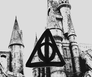 background, deathly hallows, and harry potter image