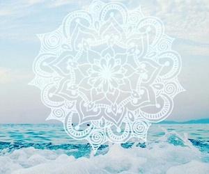 wallpaper, mandala, and sea image