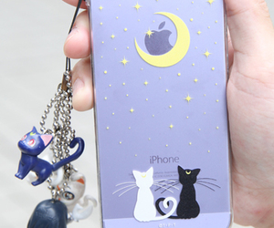 iphone, sailor moon, and cat image
