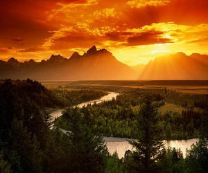 landscape, nature, and mountains image