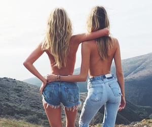 jeans, friends, and blonde image