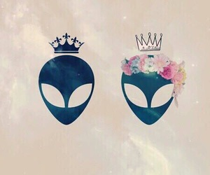 alien, Queen, and king image
