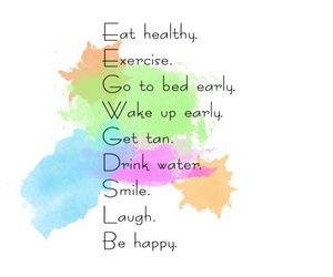 :), exercise, and happiness image