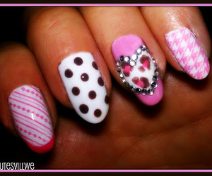 hearts, leopard, and polka dots image