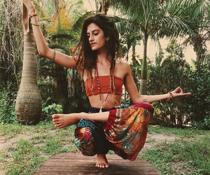 yoga, hippie, and meditation image