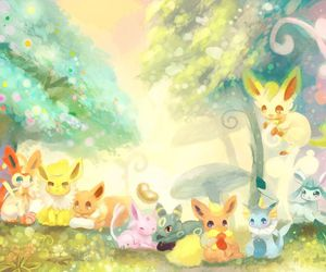 pokemon, eevee, and flareon image