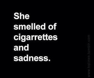 sadness, cigarette, and sad image