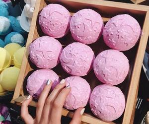 girl, pink, and lush image