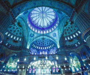 blue and mosque image