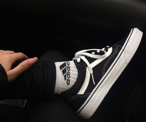 adidas, black, and vans image