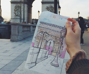 art, drawing, and paris image