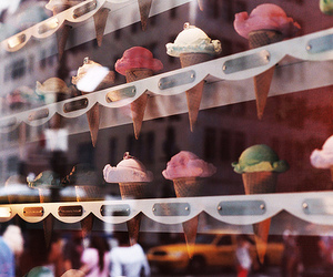 food, color, and ice cream image
