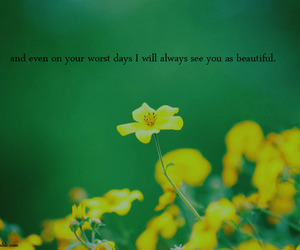 flowers, quote, and text image