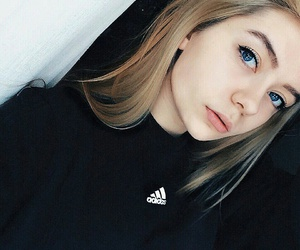 girl, adidas, and makeup image