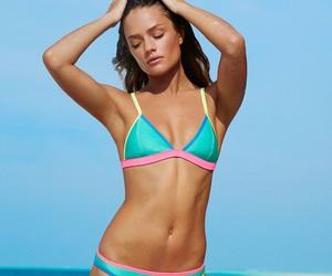 bikini, girl, and triangl image
