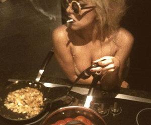 Lady gaga, cigarette, and smoke image