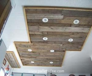 pallet ceiling, pallet ceiling designs, and pallet ceiling projects image