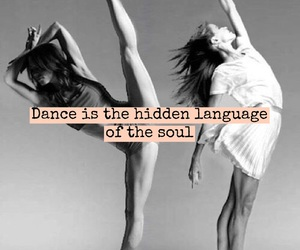 quote, dance, and easel image