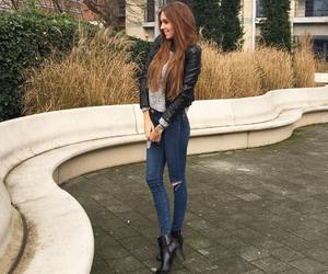 beauty, boots, and brunette image