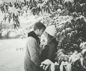 romance, winter, and snow image