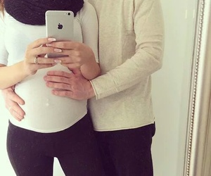 family, pregnant, and love image