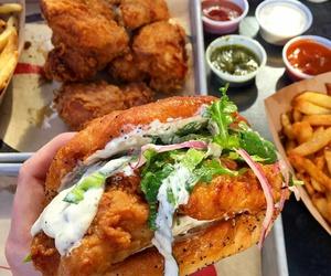 burger, fastfood, and Chicken image