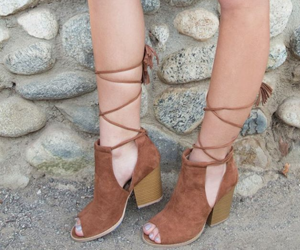 booties, style, and peep toe image