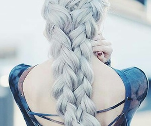 braided hair, white hair, and hairstyle image