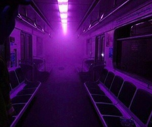 purple, aesthetic, and glow image