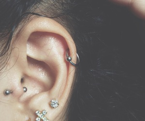 ear, piercing, and grounge image