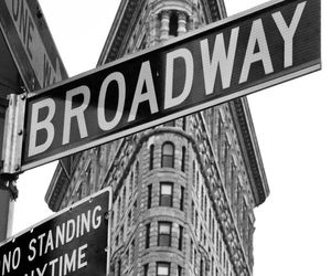 broadway, black and white, and city image