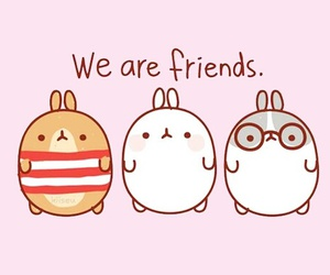 kawaii, friends, and rabbit image