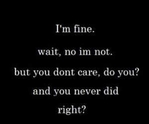 fine, hate, and sad image
