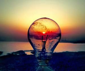 sunset, light, and sun image