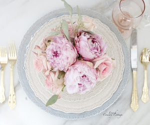 romantic dinner, tablescape, and Valentine's Day image